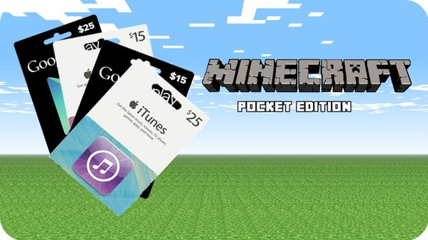 minecraft gift card buy itunes gift card to play the pocket edition of 8552