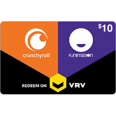 Crunchyroll on VRV $10 [Digital Code]