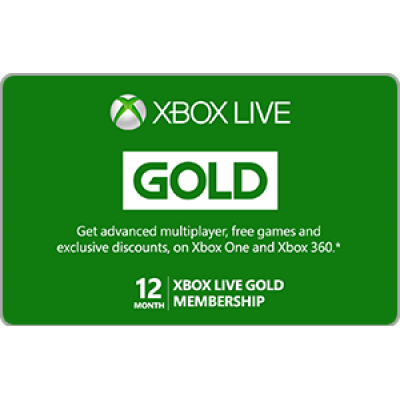 Xbox Live 12 Month Gold Membership [Digital Code]