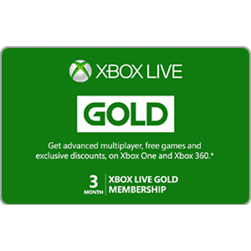 Xbox Live 3 Month Gold Membership Instant Access