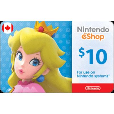 Nintendo eShop $10 (CAD)