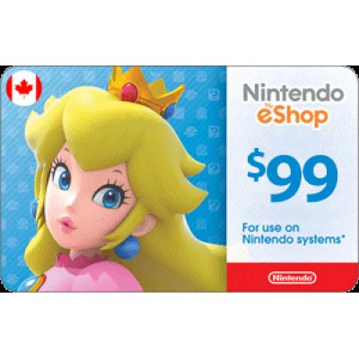 Nintendo eShop $99 (CAD)