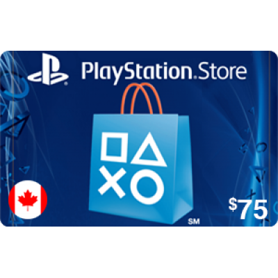 PlayStation Store $75 (CAD)