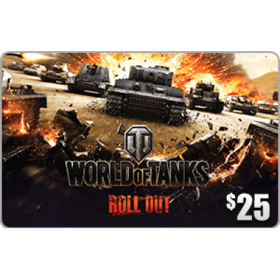 Wargaming.net World of Tanks $25