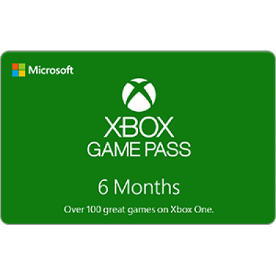 Xbox Live 6 Month Game Pass