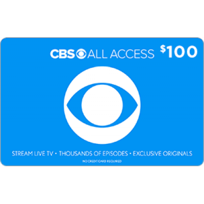 CBS All Access $100 [Digital Code]