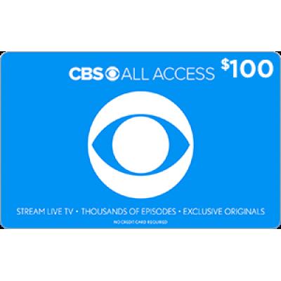 CBS All Access $100