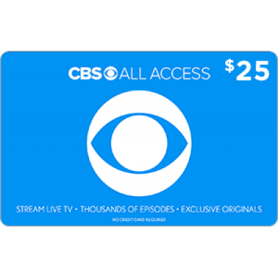 CBS All Access $25 [Digital Code]