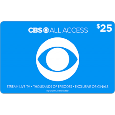 CBS All Access $25