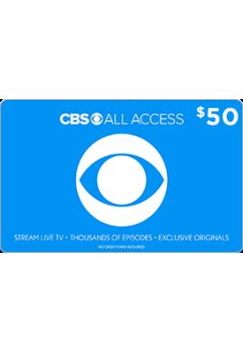 CBS All Access $50 [Digital Code]