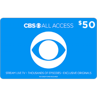CBS All Access $50 [Digital Code]