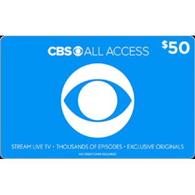 CBS All Access $50