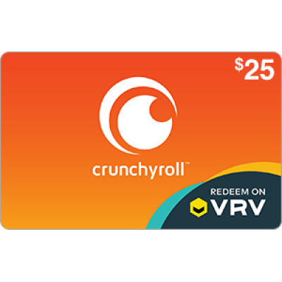 Crunchyroll on VRV $25 [Digital Code]
