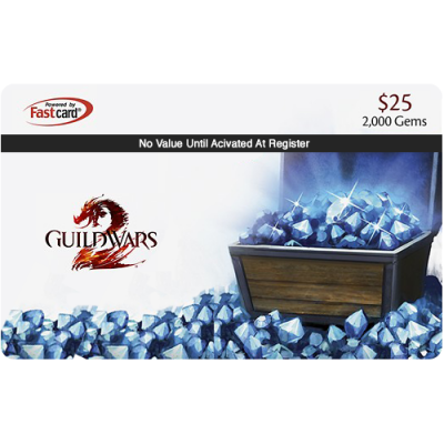 Guild Wars 2: 2,000 Gems $25 [Digital Code]