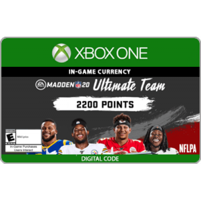 XBO Madden NFL 20 2200 Ultimate Team Points