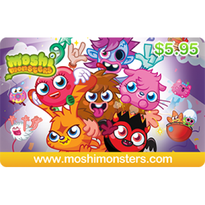 Moshi Monsters $5.95 [Digital Code]