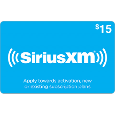 Sirius XM $15 [Digital Code]