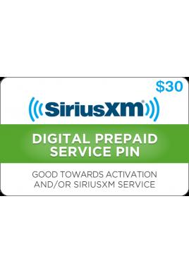 Sirius XM $30 [Digital Code]