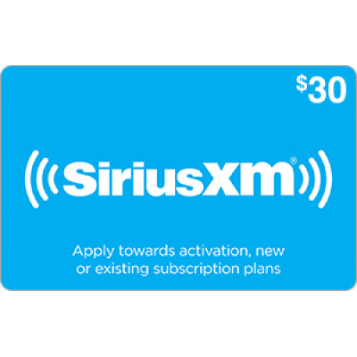 Sirius XM $30 [Digital Code]
