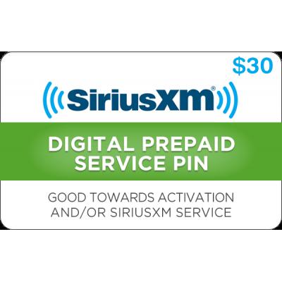 Sirius XM $30