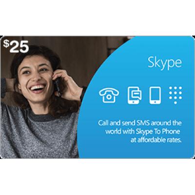Skype $25