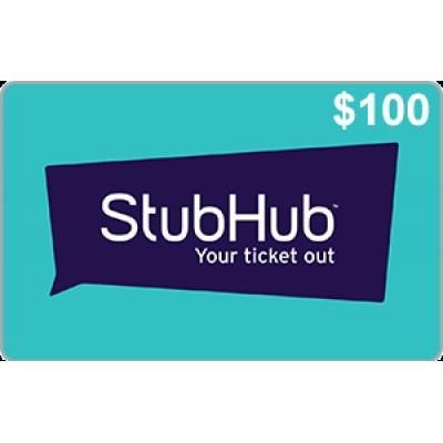 StubHub $100 [Digital Code]