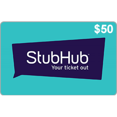 StubHub $50 [Digital Code]