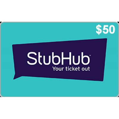 StubHub $50 [Digital Code]