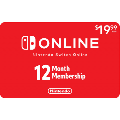 Nintendo Switch Online 12 Month