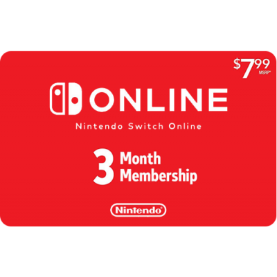 Nintendo Switch Online 3 Month [Digital Code]