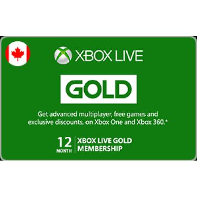 Xbox Live 12 Month Gold Membership [Digital Code]