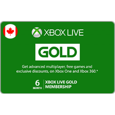 Xbox Live 6 Month Gold Membership [Digital Code]