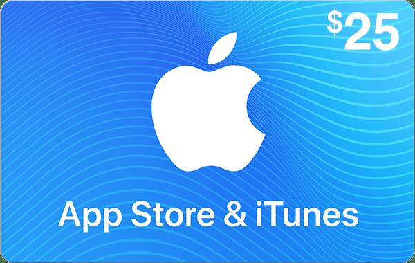App Store & iTunes $25