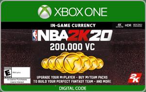 XBO NBA 2K20 200,000 VC
