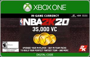 XBO NBA 2K20 35,000 VC