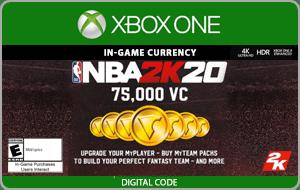 XBO NBA 2K20 75,000 VC