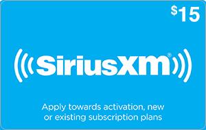 Sirius XM $15 [Digital Code] | ScratchMonkeys