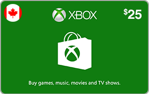 Xbox $25 (CAD)